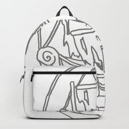 Ghost Ship Outline Backpack