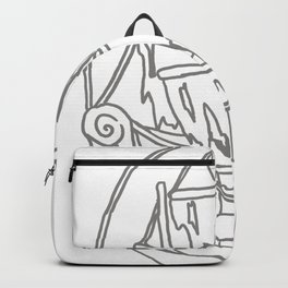 Ghost Ship Outline Backpack