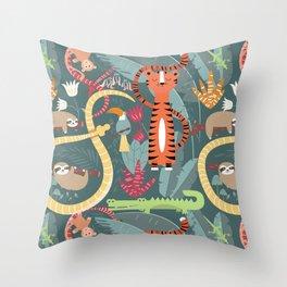 Rain forest animals 003 Throw Pillow