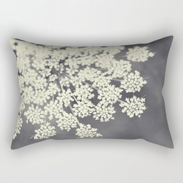 Black and White Queen Annes Lace Rectangular Pillow