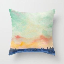 Watercolor 3 Throw Pillow