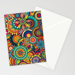 Funky Retro Pattern Stationery Cards