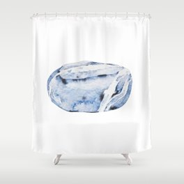 Smooth sea rock Shower Curtain
