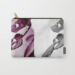 Kunstfoto Regentropfen auf Blatt Carry-All Pouch