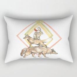 AZTEC Animals with Diamonds Rectangular Pillow