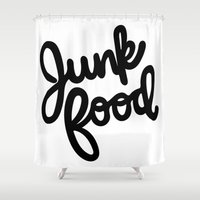 junk food Shower Curtains featuring Junk Food by mellanid