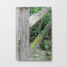 Mossy Fence Metal Print
