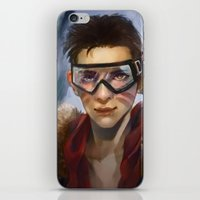 pilot iPhone & iPod Skins featuring Pilot by Shoko Lam