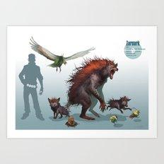 Pokemon-Zoroark Art Print