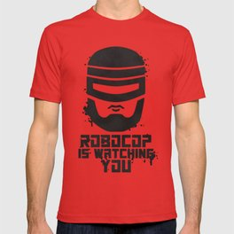 Robocop Is Watching You Stencil T-shirt