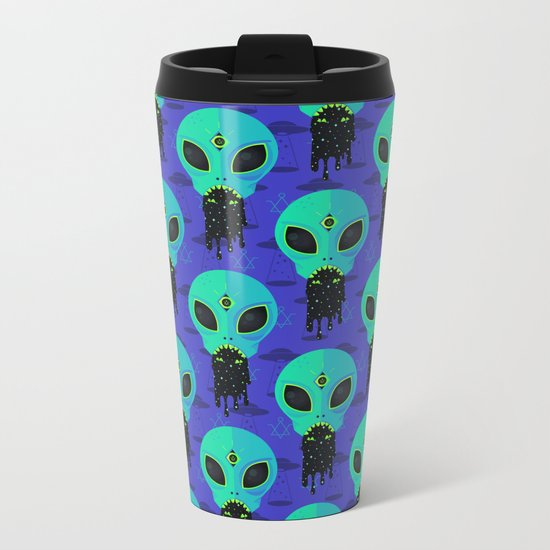 Alien Flu Metal Travel Mug