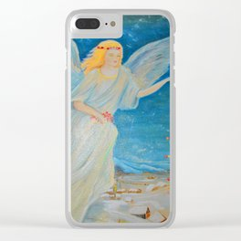 Bless me   Guardian Angels are Here   Angel of Abundance   Love Clear iPhone Case