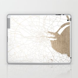 Dublin White on Gold Street Map II Laptop & iPad Skin