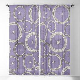bike wheels violet Sheer Curtain
