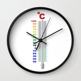 A Temperature Thermometer Wall Clock