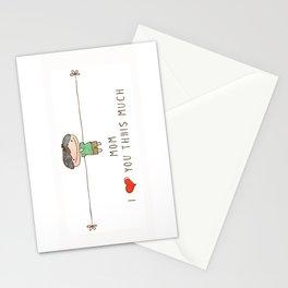 Mom I love you boy Stationery Cards