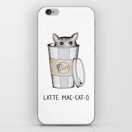 Latte Mac-cat-o iPhone Skin
