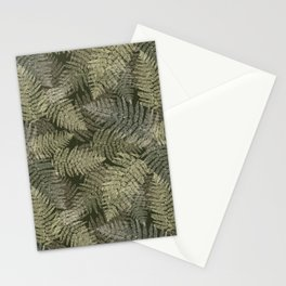 Fern Linear Leaves Stationery Cards