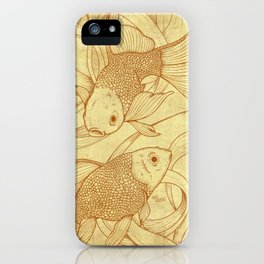 Vintage Goldfishes  iPhone Case