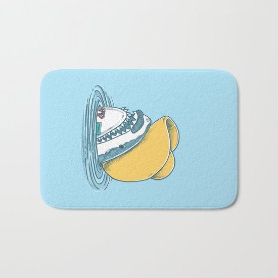Funny Hat Shark Bath Mat
