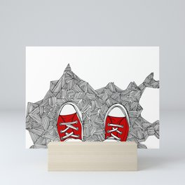 Selfie. Doodle. Mini Art Print