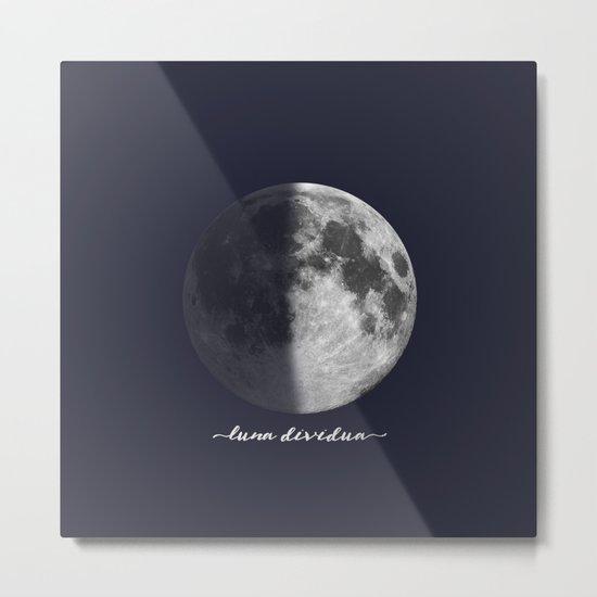 First Quarter Moon on Navy Latin Metal Print