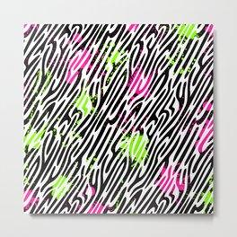 Wild Zebra Print Metal Print
