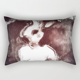 """The Rabbit Stared at Alice"" By Nacho Dung. Rectangular Pillow"