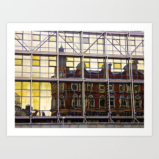 Reflections of Old Belfast Art Print