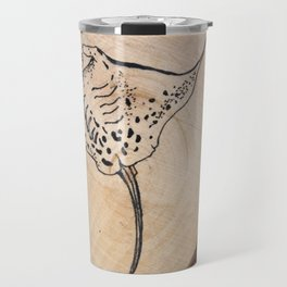 Devil Ray Wood Slice 2 Travel Mug