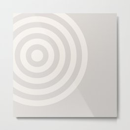 70's Retro Circles Cream - 2 of Series 70's Retro Metal Print