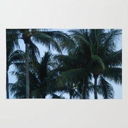 Palm Trees at Dusk Rug