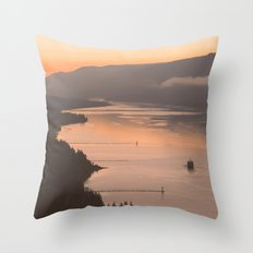 Pacific Northwest Sunrise Throw Pillow