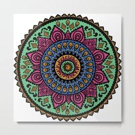 Mandala Technicolor Metal Print