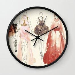Alexander McQueen Fashion Illustrations 2013 Wall Clock