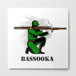 Bassoon Bassooka Metal Print