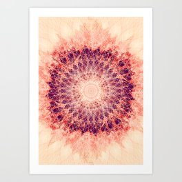 Apricot Mandala Art Print