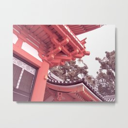 Kyoto Temple, Japan Metal Print