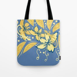 Samoan Orchid Sunset Polynesian Floral Tote Bag