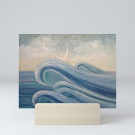 Crowning The Waves Mini Art Print