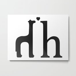 h is for high horse Metal Print