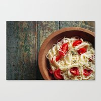 pasta Canvas Prints featuring Pasta by Eli Potter