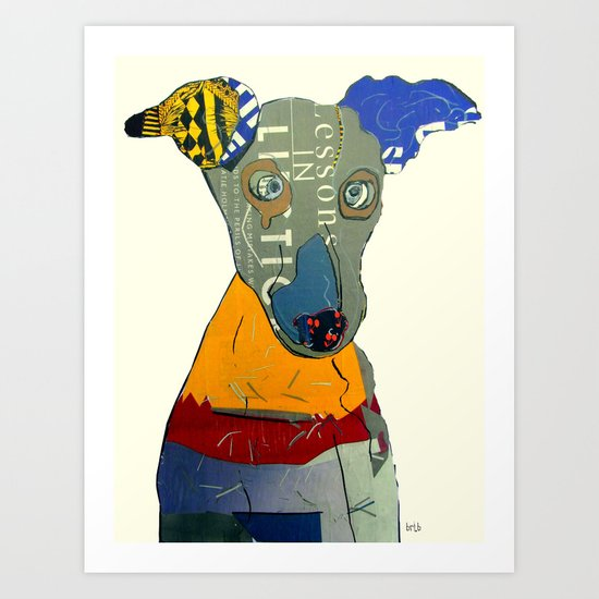 kacy (greyhound  Art Print