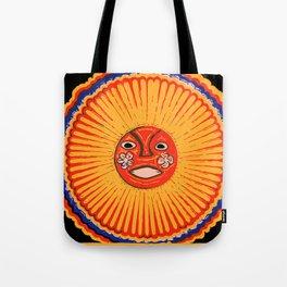The sun Huichol art Tote Bag