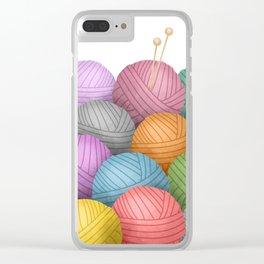 So Much Yarn Clear iPhone Case