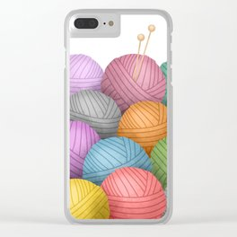 So Much Yarn Clear iPhone Case