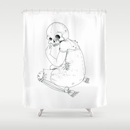 Nightmare death Shower Curtain