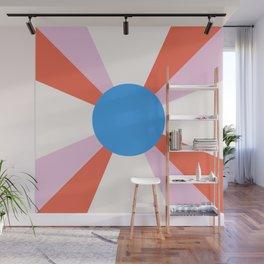 Retro Sun Rays - Mod Tones Wall Mural