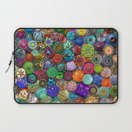 Glass Buttons Laptop Sleeve