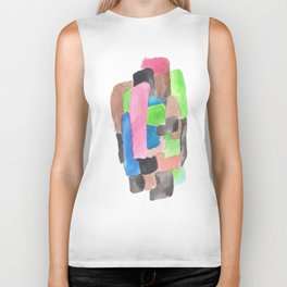 171013 Invaded Space  5 |abstract shapes art design |abstract shapes art design colour Biker Tank